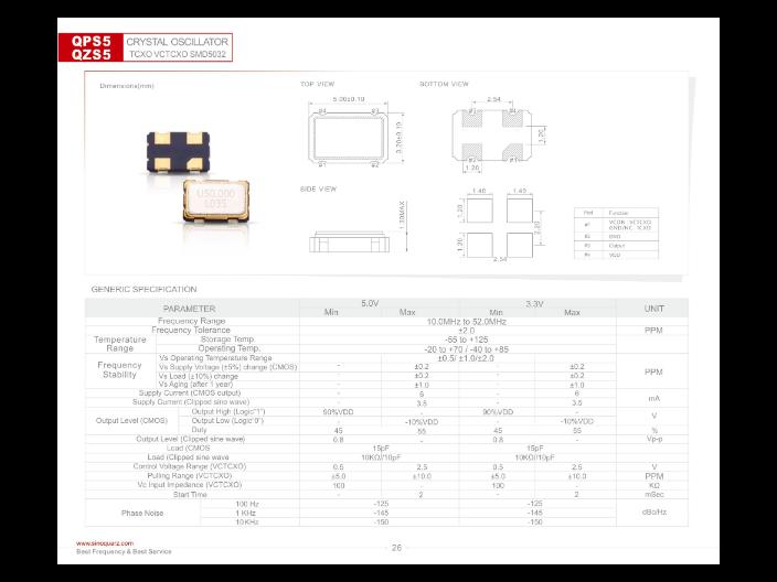 苏州高稳晶体振荡器供应 信息推荐 苏州奥泰克电子科技供应