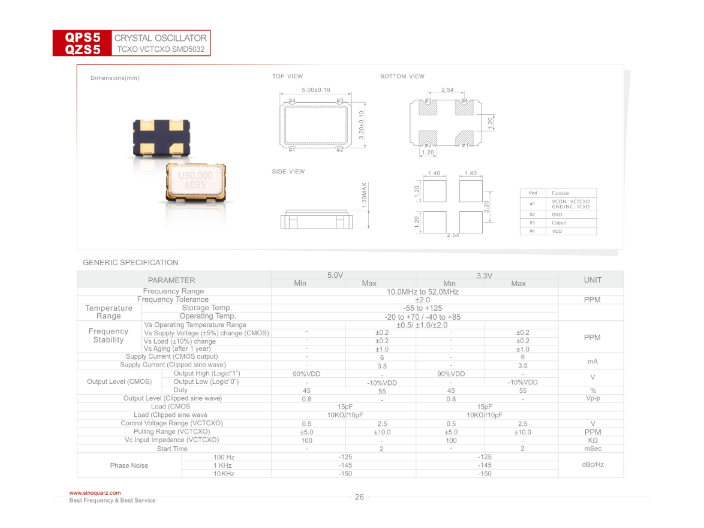 金華溫補晶體振蕩器銷售 服務為先 蘇州奧泰克電子科技供應