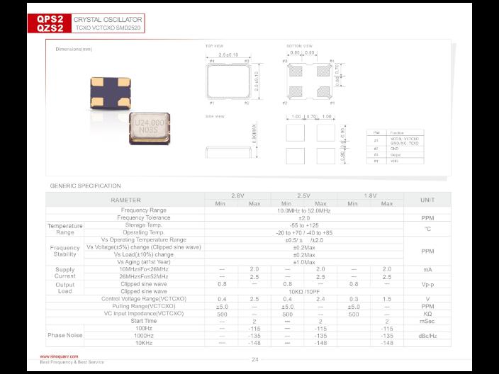 金华贴片晶体振荡器厂家直销 服务为先 苏州奥泰克电子科技供应