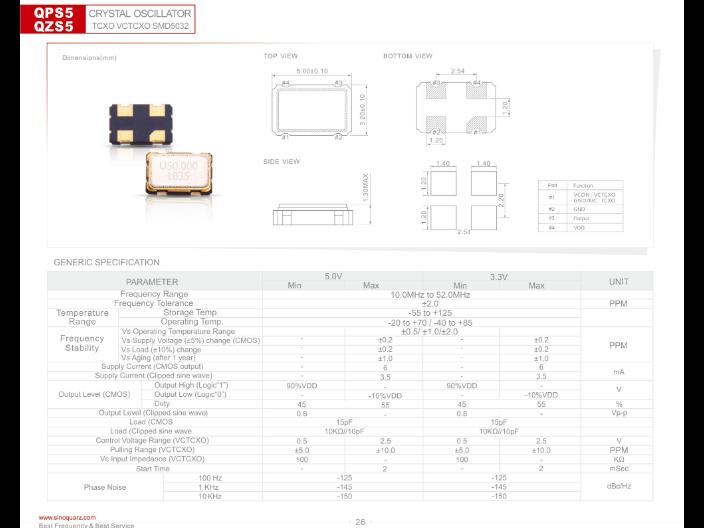 温州多输出晶体振荡器价格 推荐咨询 苏州奥泰克电子科技供应