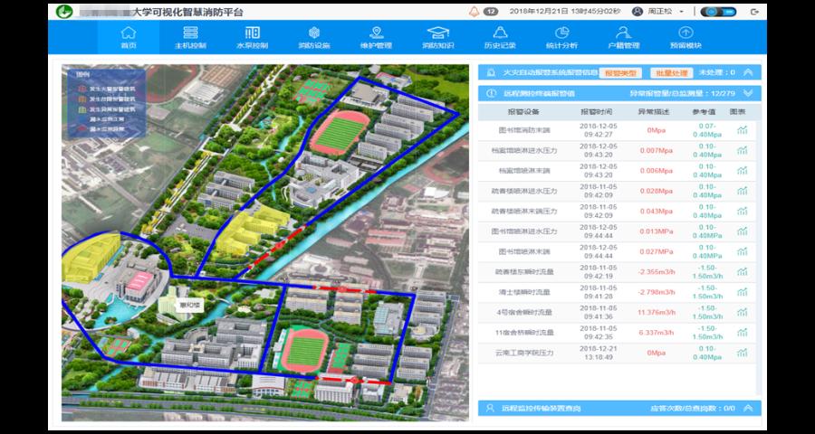 福州校园可视化智慧消防系统怎么收费 苏州思迪信息技术供应