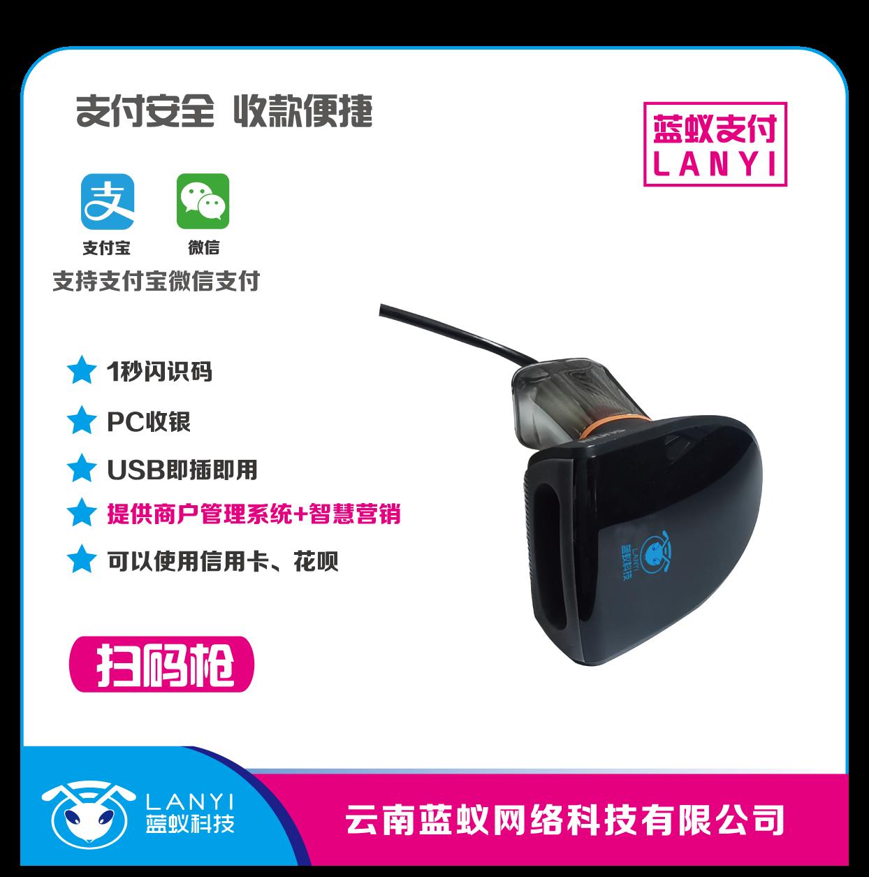 曲靖智能掃碼支付平臺「云南藍蟻網絡科技供應」