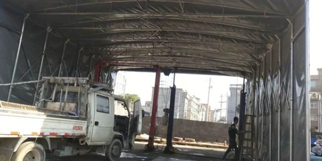 耐用电动伸缩车棚搭建 推荐咨询 台州永信膜结构工程供应