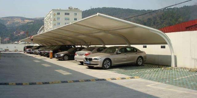 户外膜结构停车棚遮阳棚订制厂家,膜结构停车棚