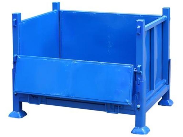 长沙滚轮式钢制料箱批发 服务至上 湖北聚创仓储设备供应