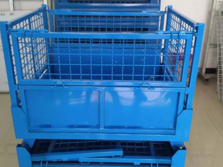 襄阳折叠式网格料箱批发价 欢迎咨询 湖北聚创仓储设备供应