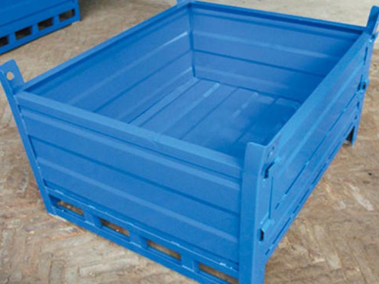宜昌折叠式钢制料箱订做 诚信互利 湖北聚创仓储设备供应