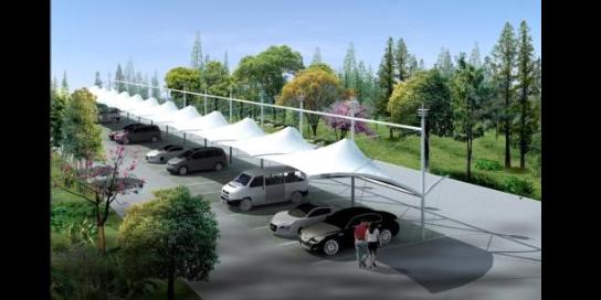 防水膜结构停车棚订制价格