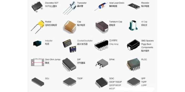 南京重型电子元器件价格表格