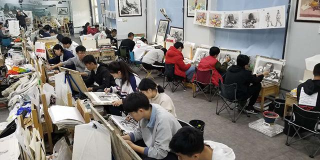 中考素描教育培训 淄博新动力画室服务