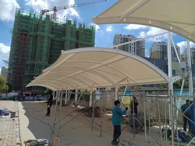 濮陽公園張拉膜工程 河南沐原膜材料供應