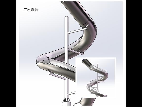 成都不锈钢螺旋滑梯定做 欢迎咨询「广州鑫灏游艺设备供应」