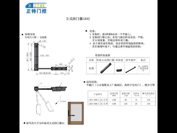 深圳立式閉門器供貨商「許昌正特門控科技供應」