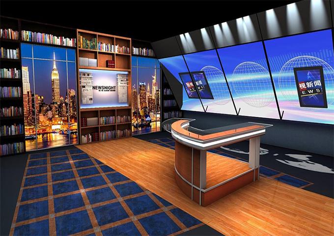 厦门虚拟演播室背景视频,虚拟演播室