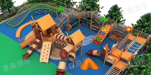 江苏景区幼儿园木质滑梯价格 欢迎咨询「浙江康森游乐设备供应」