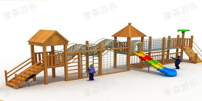 内蒙古景区幼儿园木质滑梯报价 诚信互利「浙江康森游乐设备供应」