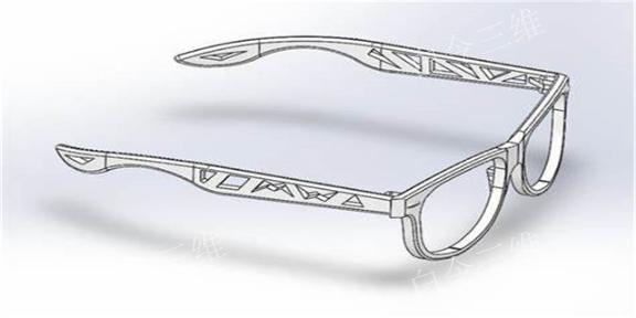 河北3D打印眼镜架如何选择 欢迎咨询 白令三维3D打印公司供应
