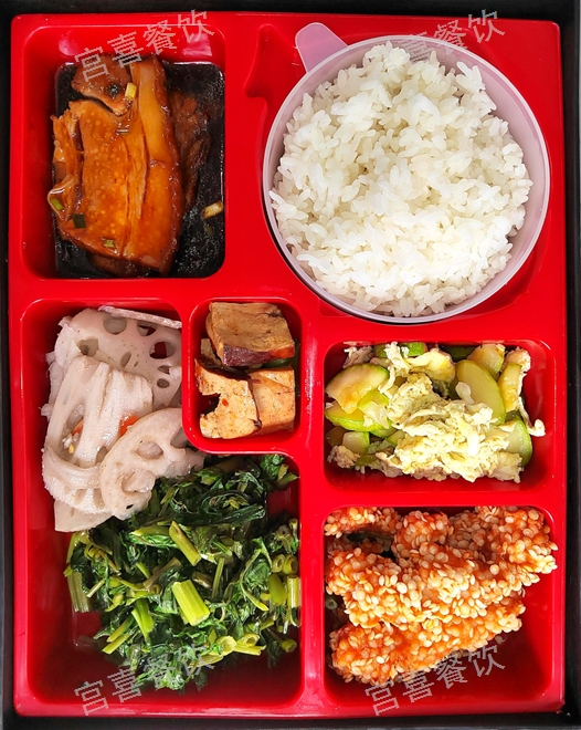 静安区特色盒饭配送「上海宫喜餐饮管理供应」