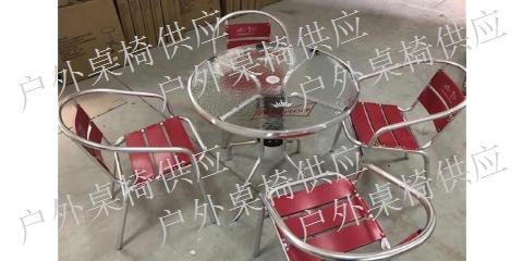 杭州木塑户外桌椅伞「上海冠中实业供」