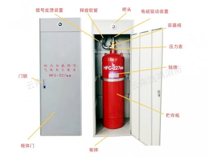 云南双柜七氟丙烷自动灭火系统