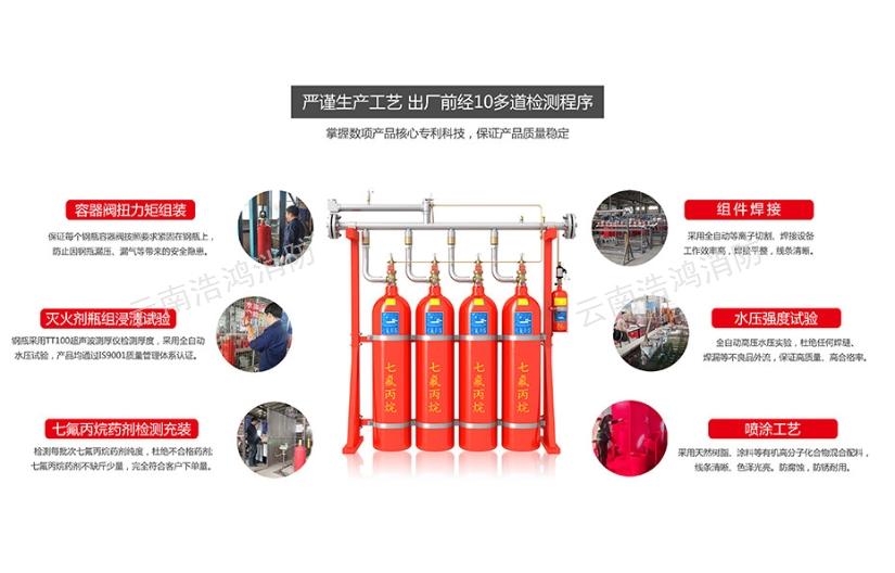 红河管网七氟丙烷装置「云南浩鸿消防设备供应」