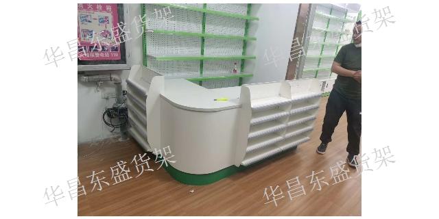 阿克苏便利店收银台厂家 华昌东盛货架商用设备供应