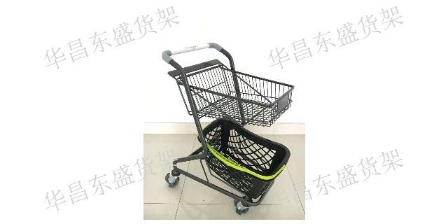 奎屯超市手推车价格 华昌东盛货架商用设备供应