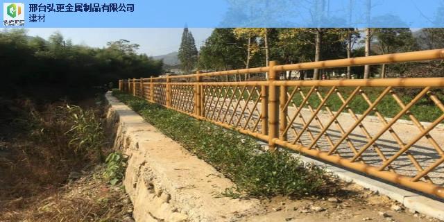 秦皇岛绿色仿竹护栏不锈钢竹节护栏 诚信为本 邢台弘更金属制品供应