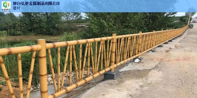 南京绿色仿竹护栏仿竹节护栏 推荐咨询 邢台弘更金属制品供应