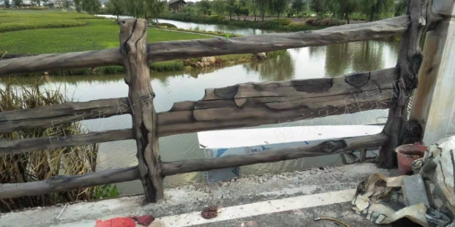 园区仿木水泥栏杆 欢迎来电「南京宏科景观工程供应」