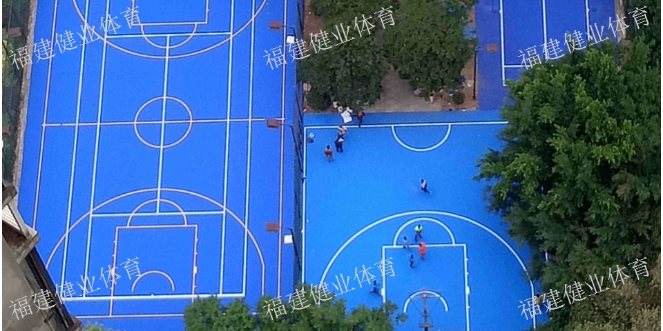 漳州跑道人造草坪 篮球场 福建健业体育设施工程供应