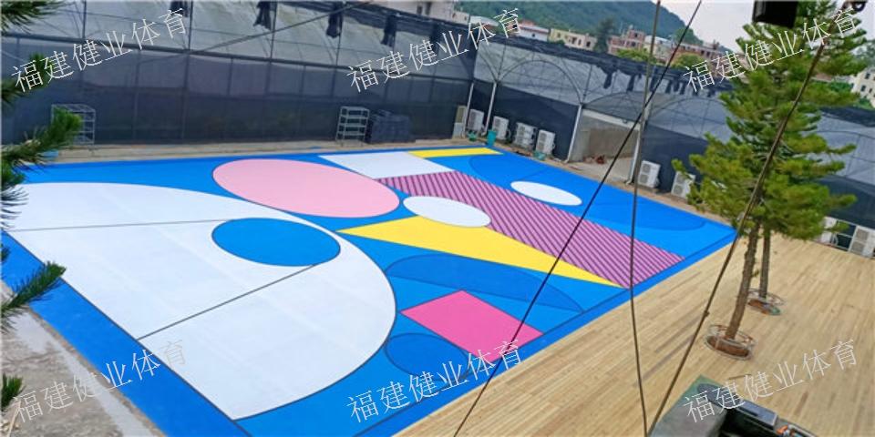 秀屿塑胶篮球场建设 球场 福建健业体育设施工程供应