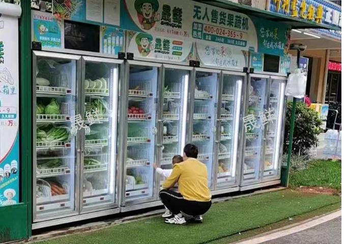 昆明智能果蔬生鲜柜供应商 晟鲜无人售货果蔬机蜜厨供应
