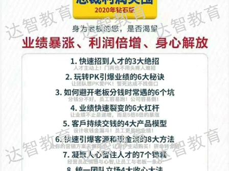 萍乡网络总裁班哪家好 总裁思维「江西达智教育咨询供应」