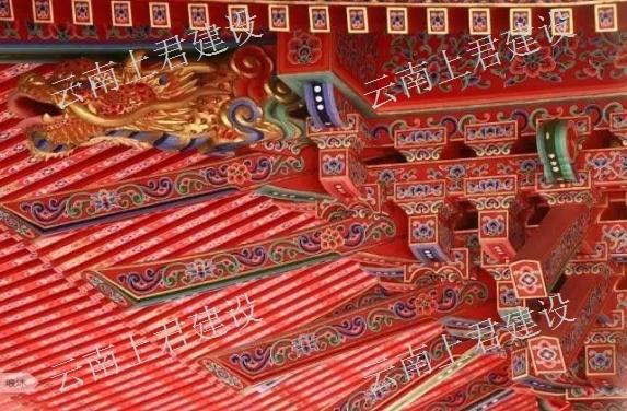 昆明寺廟古建筑門樓施工公司 云南上君古建筑設計施工供應