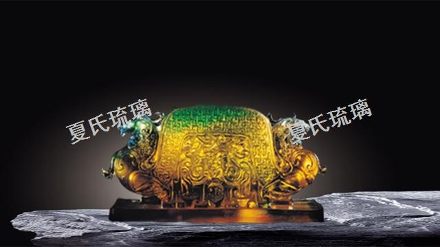台州销售夏氏琉璃摆件如意 欢迎咨询「上海弘业工艺品供应」