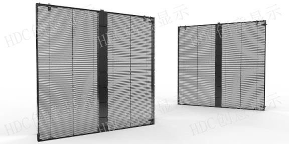 广东橱窗LED透明屏安装,LED透明屏