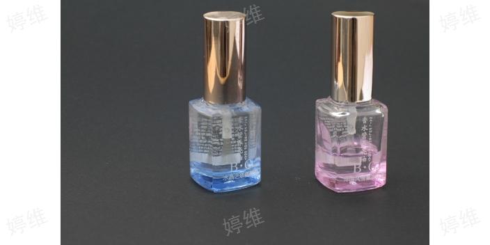 青岛甲油玻璃瓶印制logo,玻璃瓶