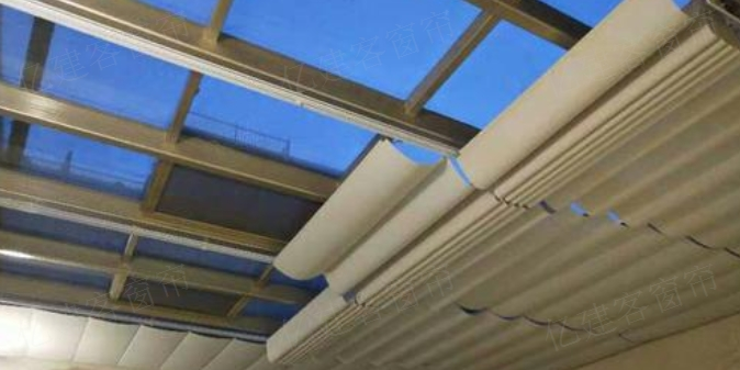 折叠式电动天棚帘 推荐咨询「南京亿建客智能窗业供应」